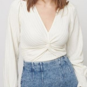 Twist front blouse NWT